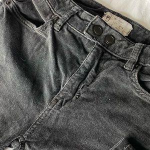 Free People Charcoal Gray Corduroy Pants